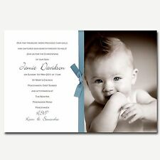 Gorgeous Photo Christening Invitations Mollie - Great Quality!! Baby Boy or Girl