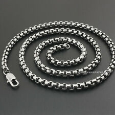 "316L Stainless Steel Mens Biker Box Necklace Pendant Chain 5N001A 16"" ~ 36"""