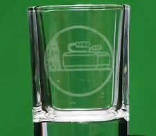 Curling Match Stone Crystal Shot Tot Cup Glass Gift For Sports Player Team Club