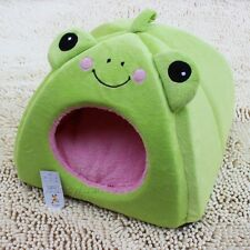 New Cute Soft Frog Shape Pet Dog Cat Tent House Bed Green Size S,M