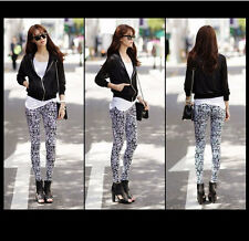 New Fashion Sexy Vintage Flower Print Women Spring Autumn Leggings Ninth Pants