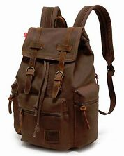 Retro Vintage Canvas Backpack Travel Sport Rucksack Satchel School Hiking Bag
