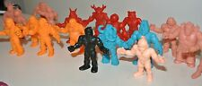 m u s c l e men red action force figures Flesh pink purple vintage toys