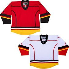 Calgary Flames Hockey Jersey & Sock COMBO! NHL Replica DJ300