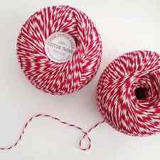 Studio Carta: 100% Cotton Twine, 300 Yards, in Red, Black, Emerald or Natural