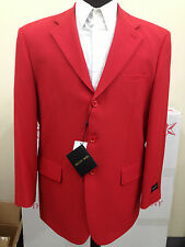 Mens basic Red suit (come with pants) by Milaono Moda Stlye#802P