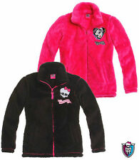 Monster High Girls polar fleece jacket pink black 5-6-7-8-9-10-11-12-13-14