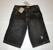"Boys BNWT ""Pumpkin Patch"" Slim Fit Black Denim Shorts – Sizes 4"