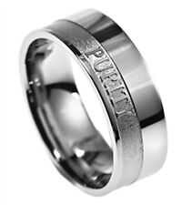 Purity Ring For Guys Scripture Band Matthew 5:8 BRAND NEW