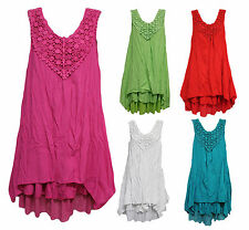 NEW Quelque by FILO Crochet Detailing Layered Tunic Dress SIZES 8 10 12 14 16 18