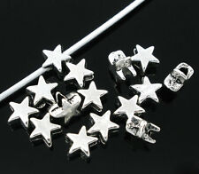 Wholesale Lots Silver Tone Star Charm Spacer Beads 6x6mm