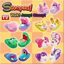NEW STOMPEEZ CHILDRENS KIDS SLIPPERS HOUSE SHOES AS SEEN ON TV STOMPERS STAMP