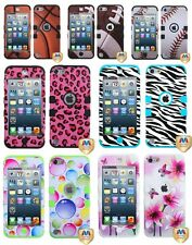 iPod Touch 5th Generation - Dual Layer Hybrid High Impact Hard&Soft Rubber Case