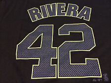 Mariano Rivera NY New York Yankees T Shirt Jersey Neon Volt & Carbon $27 msp