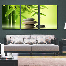 ZEN STONE&BAMBOO easy to hang fiberboard PVC canvas wall art/surpassed stretched