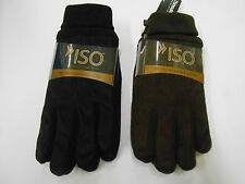 Isotoner Thinsulate Gloves brand new microfiber black and brown and gloves  BNWT