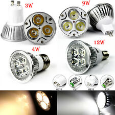 GU10 E27 E14 MR16 Led Bulb Light Spot Lamp 3W/4W/9W/12W Warm Cool White 12V 240V