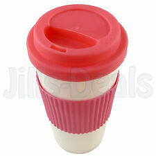 COFFEE CUP PLASTIC CUPS 16oz HOME TRAVEL OFFICE BEVERAGE TEA MUG REUSABLE MUGS