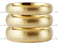 SOLID 14K YELLOW GOLD BRUSHED COMFORT FIT WEDDING BAND RING MENS WOMENS