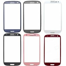 New Blue White Red Pink Grey Black Outer Glass Lens for Samsung Galaxy S3 SIII