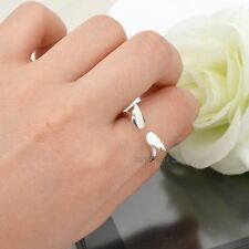 Angel Wing 925 Sterling Silver Ring Women Girl Lady Lovely Adjustable Ring