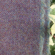 Wool Tweed Curtain/Upholstery Fabric - Herringbone Weave - Lavender
