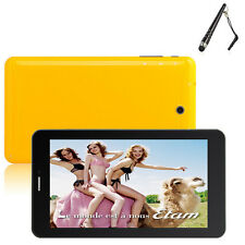 "7"" Android 4.0 4GB PC Tablet GSM Phablet WIFI Bluetooth 2SIM Dual Camera Colros"