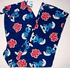 Men's THE SMURFS Get Your Smurf On Fleece PJ Pajama Lounge Pants 3029