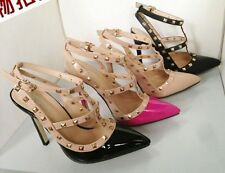 Sexy Women's Pointed Toe Studded Spike Pumps Stiletto High Heels Shoes 222-1