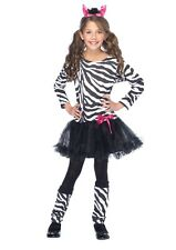Little Zebra Girls Costume Animal Child Outfit