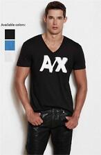 New Armani Exchange AX Mens Muscle/Slim Fit Blurred Logo Tee Shirt