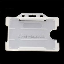 2Pcs Double Identity ID Pass Card Badge Holder Form Office Supplies