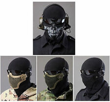 Paintball Airsoft Moto Bicycle Nylon Mesh Half-Face Mask Tactical Equipment