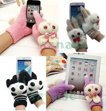 Lovely Women's Touch Screen Gloves Smartphone/iPad Knit Warm Cartoon Gloves