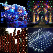 320/210 LED Net Fairy Light Christmas Wedding Party Garden 2X3M Net Lamp Tree UK