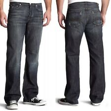 $189 Men's Seven 7 For All Mankind Relaxed Jeans Dark Distressed Montana 28-32