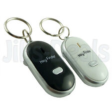 NEW KEY FINDER LOCATOR WITH LED LIGHT FLASHING KEY CHAIN WHISTLING FIND WALLET