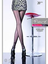 Fiore MIRIAM Fashion Back Seam 20D Tights designed and maufactured from Europe