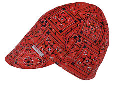 NWT Comeaux Caps Welding Welders Hats Pipe Fitter Reversible Red Bandana