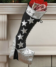 KISS Christmas Stockings Gene Simmons Dragon Boot or Paul Stanley Star Boot NEW