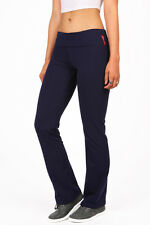 Yoga Womens Athletic Foldover Stretch Gym Casual Comfy Soft Lounge Pants S M L