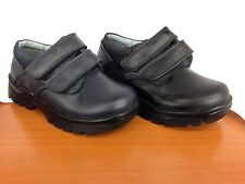 New Boy Velcro Navy-Black Leather Shoes/Casual-School Shoes/Toddler-Youth/Sz10-6