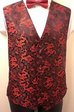 "MENS NEW RED DRAGON WAISTCOATS CHEST SIZES 38"" - 50"""