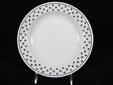 "Richard Ginori Porcelain Soup Pasta Bowl 8.5""  w/ Blue Gold Flower Floral ITALY"
