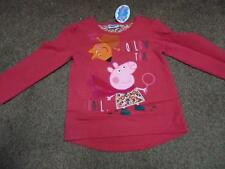 BNWT Peppa Pig girls pretty pink floral long sleeved top tshirt