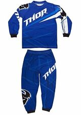 Thor Mx Clothing 2014 Stripe Blue Boys Youth Motocross Dirt Bike Kids Pajamas