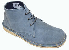 Men's Genuine Leather Dusty Blue Suede Desert Boots Sizes UK 6 - UK 11