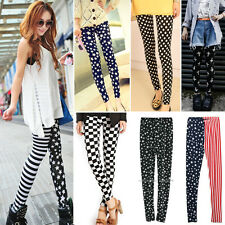 New Womens Punk Elastic Funky Sexy Leggings Stretchy Tights Pencil Skinny Pants