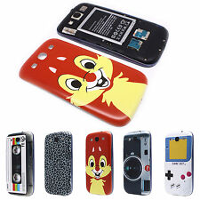 Magnetic Tape Chipmunk Print Battery Back Cover Case for Samsung Galaxy S3 i9300