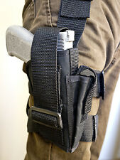 Ruger SR9, SR40 Full Size | Nylon Tactical Drop Leg Holster with Mag Pouch